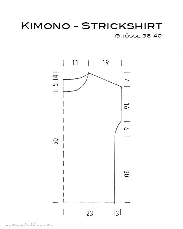 Photo of Kimono Knit Shirt – Instructions | naturally creative | Bloglovin '