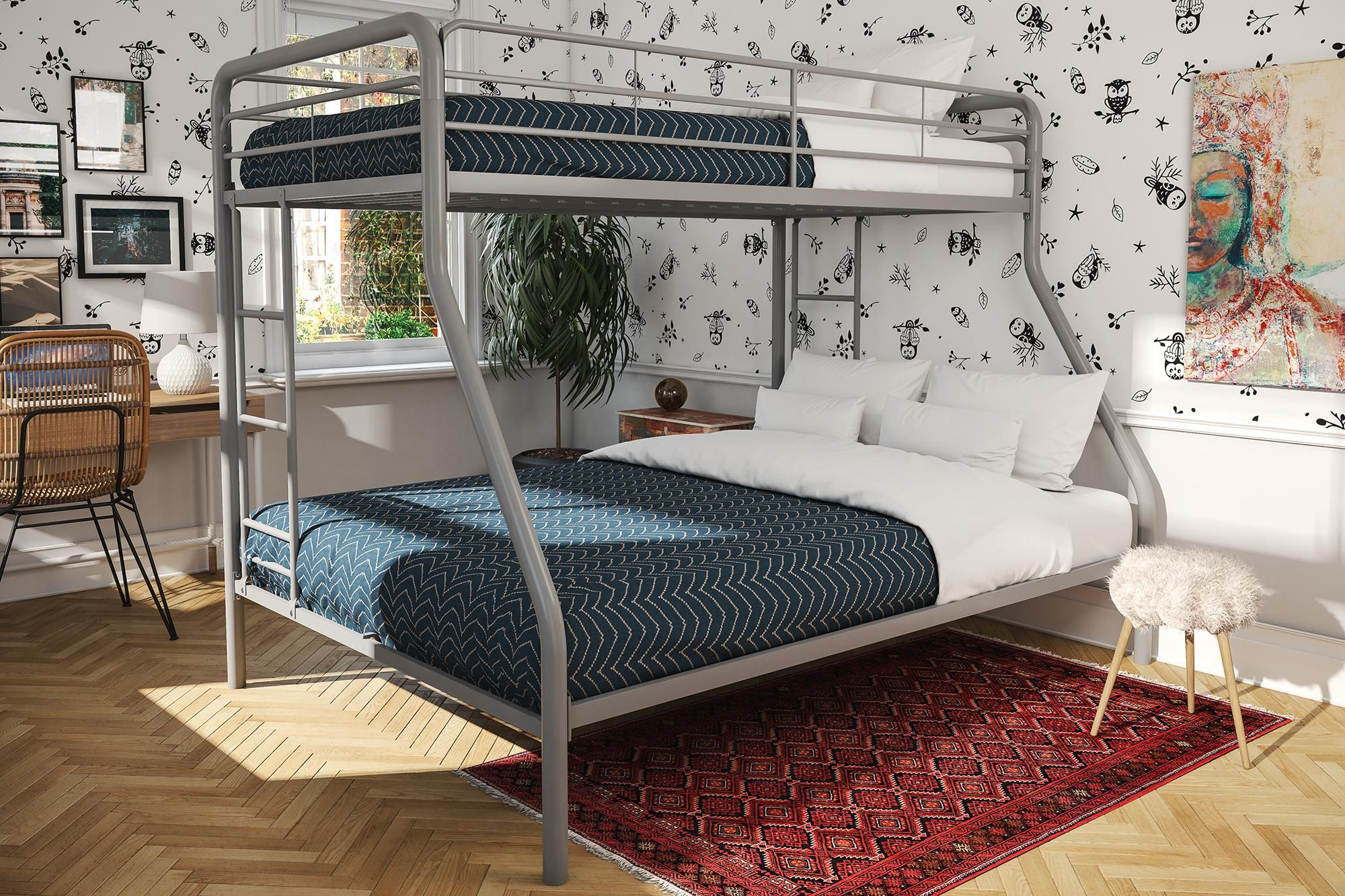Home Metal bunk beds, Bunk beds with stairs, Bunk beds