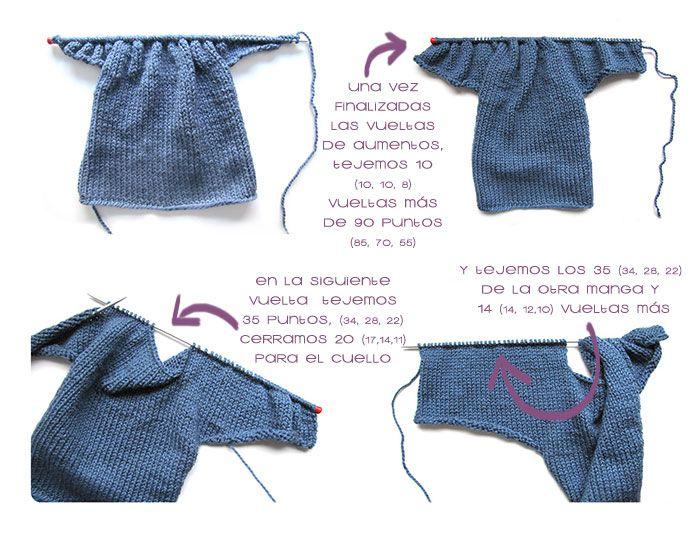 Cómo hacer una Chaqueta De Bebé a Dos Agujas -DIY- | Tejidos y ...