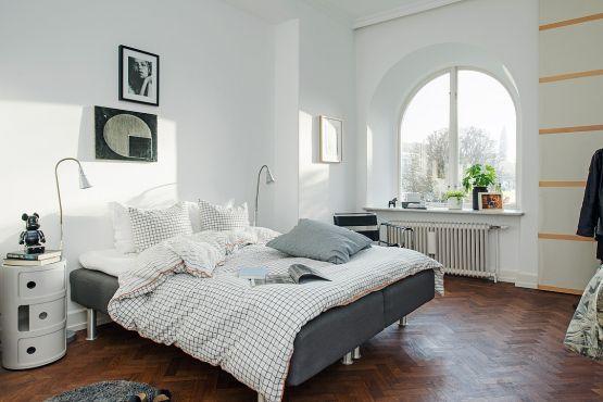 Un piso sueco de planta poco convencional