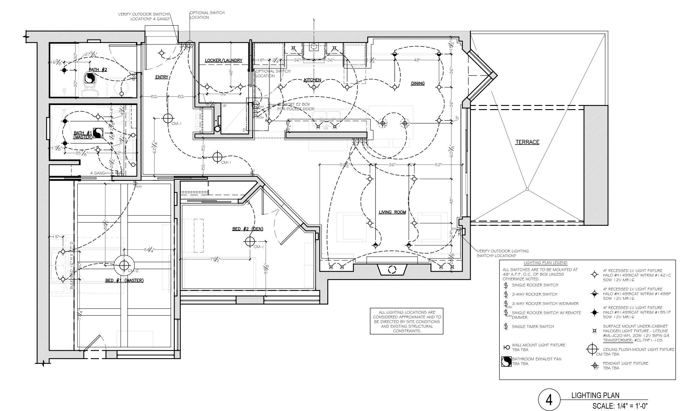 corey klassen interior design - lighting plan example