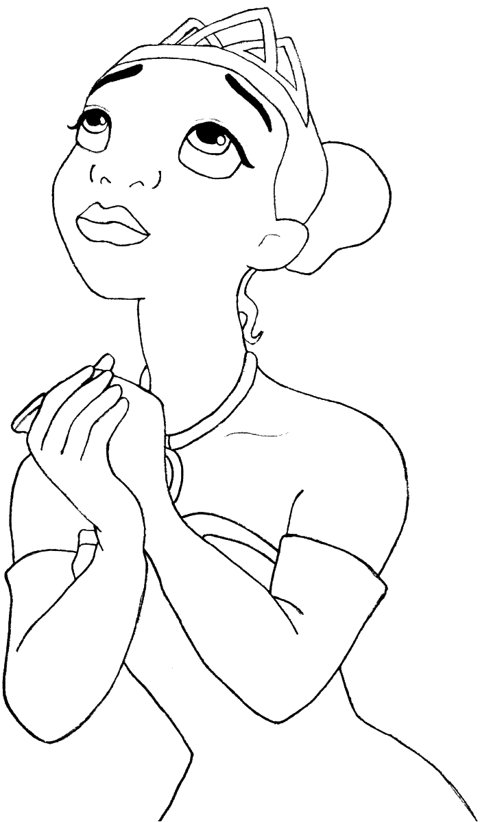 princess tiana ask god coloring pages princess coloring pages