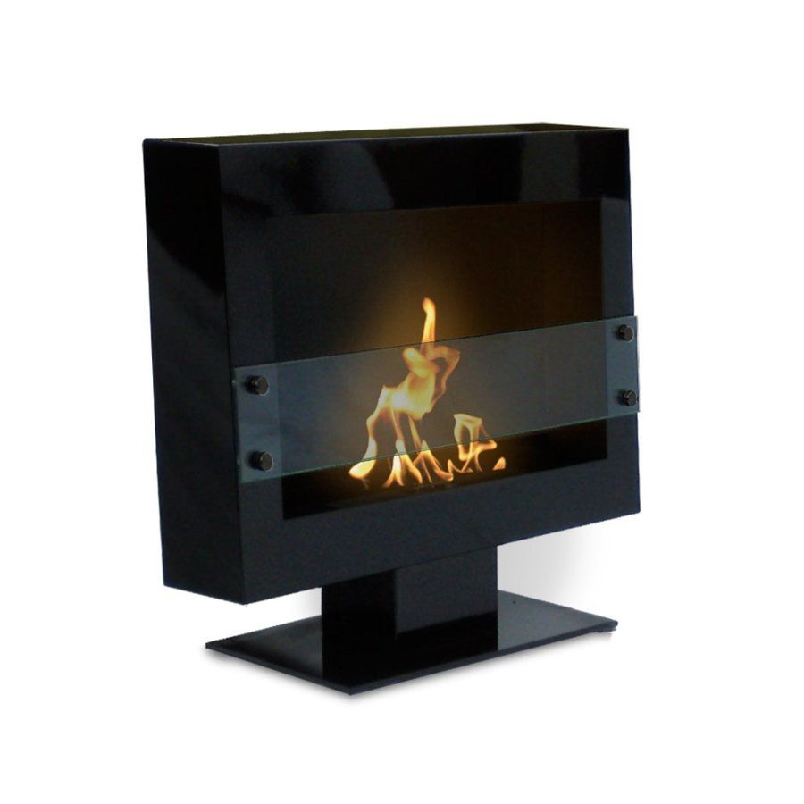 Anywhere Fireplace 28 In Single Burner Black Gas Fireplace Lowes Com Ethanol Fireplace Standing Fireplace Ventless Fireplace