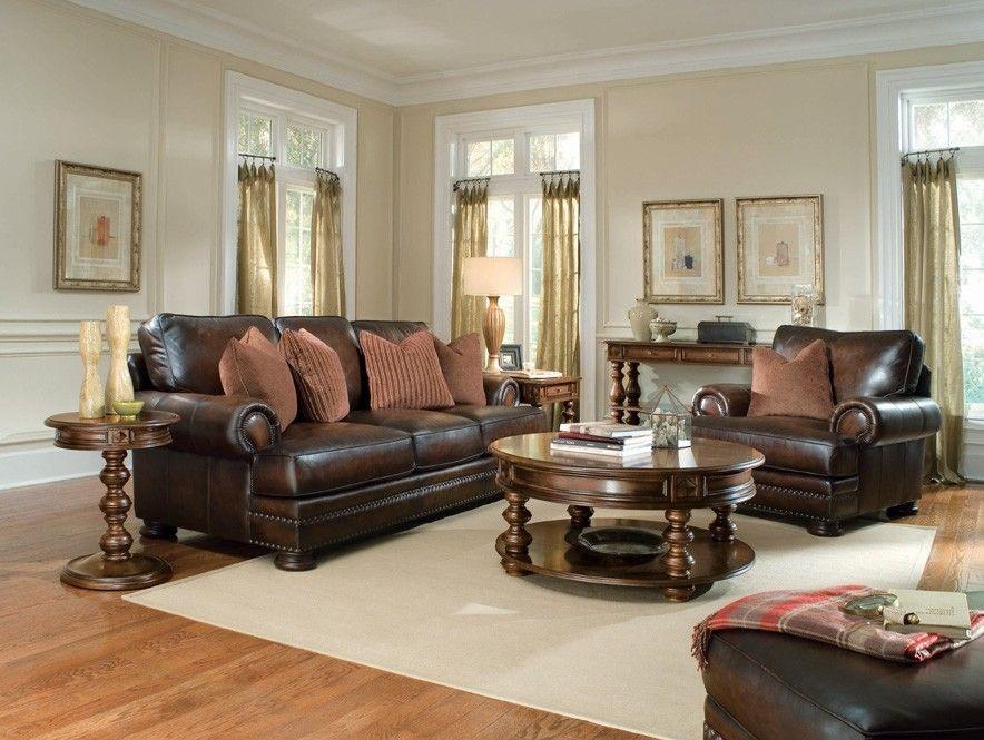 Bernhardt Furniture Foster Leather Sofa Bn 5177lo Living Room