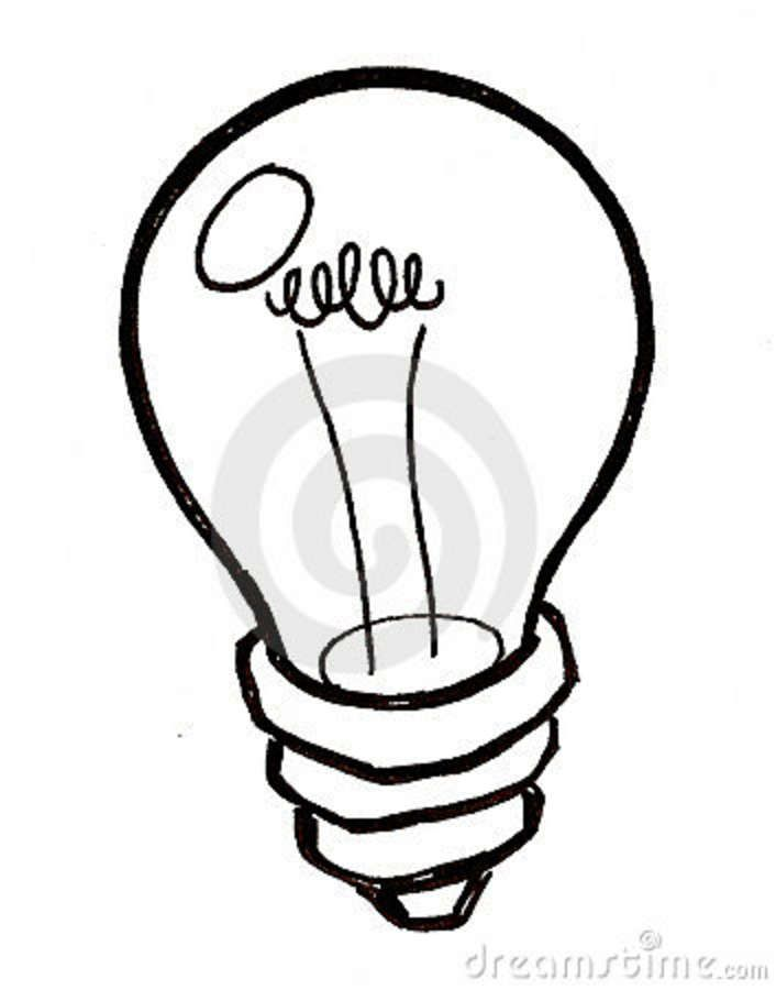 Light Bulb Black And White Drawing Light Bulb Black And White Black And White Drawing Bulb Light