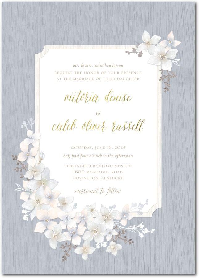 Rustic Wildflowers Wedding Invitation | Wildflowers and Weddings