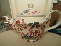 Extremely Rare EMMA BRIDGEWATER Spongeware 1980's Vintage Teapot ROSES CHINTZ