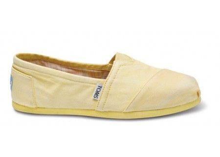 52a61cbc652 Picked up these light yellow Toms to replace my black canvas ones with for  spring  summer! Tried the sparkly ones- they are hard to put on- I don t  have ...