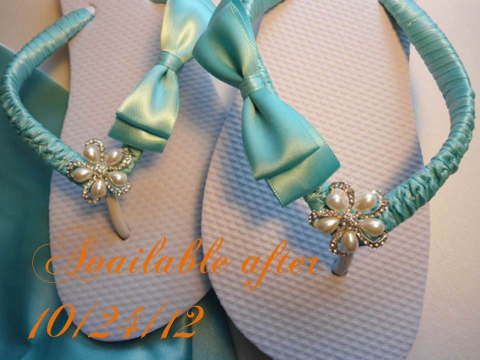 3923fd7ee4ab9 Tiffany blue shoes bridal flip flops for blue by AdrianaDosSantos ...