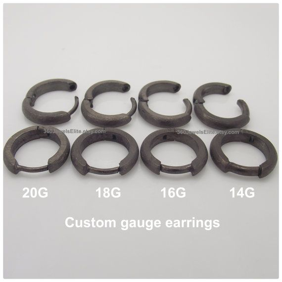 Custom Gauged Earpost Hoop Earrings For Men 12g 14g 16g 18g Or 20g These Are 9mm In Diameter And