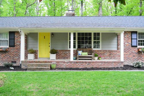 Painting Our House S Exterior Siding Young House Love Exterior House Siding Brick Ranch House Exterior