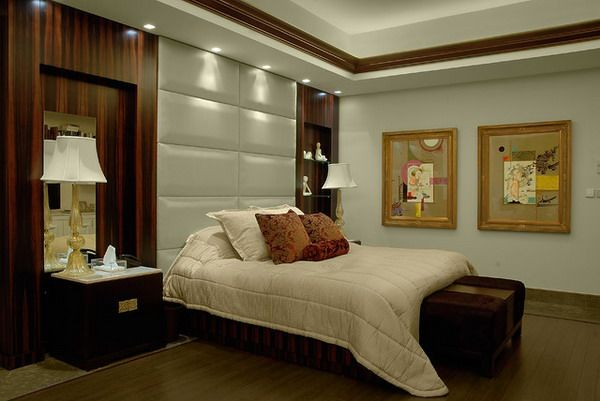 Modern built in headboards for contemporary bedroom