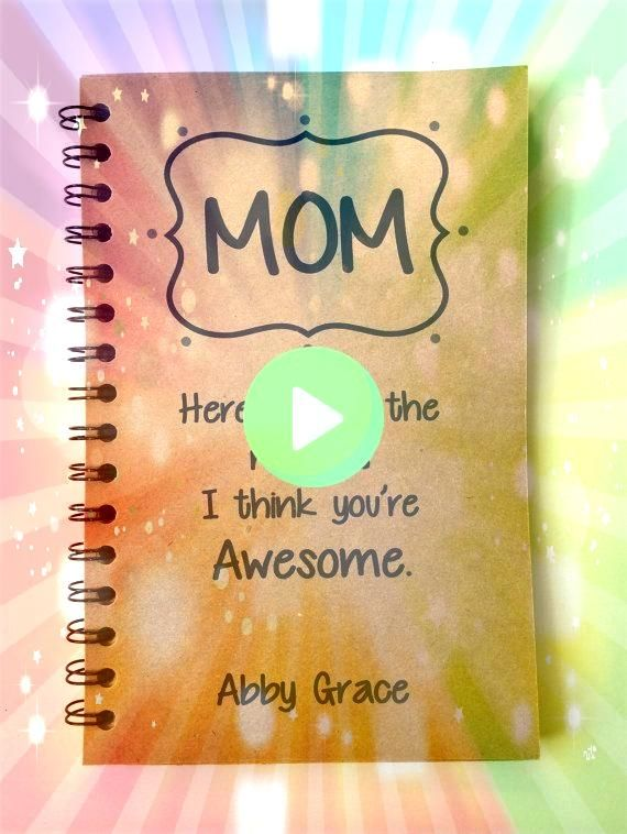 your Mom feel special with a special message from you WHATS INCLUDED  Mom Awesome Notebook with Lined or Blank Pages You Pick frontMake your Mom feel special with a speci...