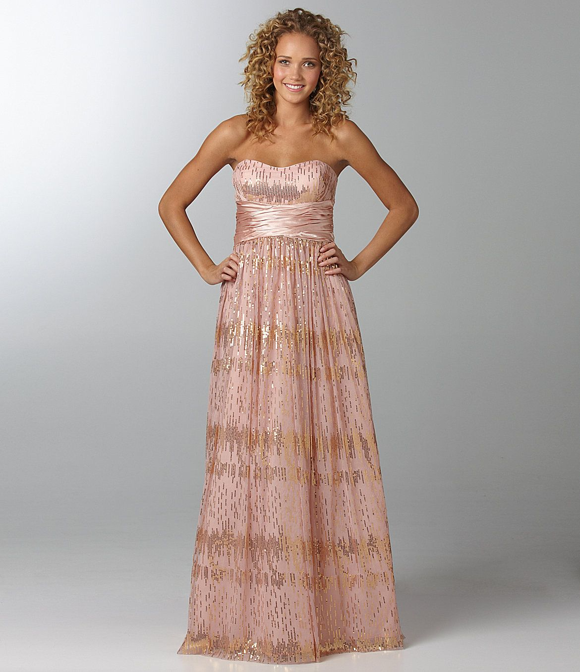 Hailey logan strapless glittermesh gown obsessed with clothing