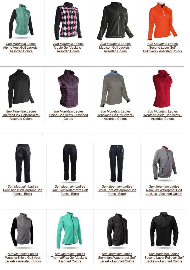 Lori S Golf Shoppe Has The Widest Range Of Sun Mountain Outerwear For Golf You May Need To Combat Difficult Golf Outfits Women Womens Golf Fashion Golf Outfit