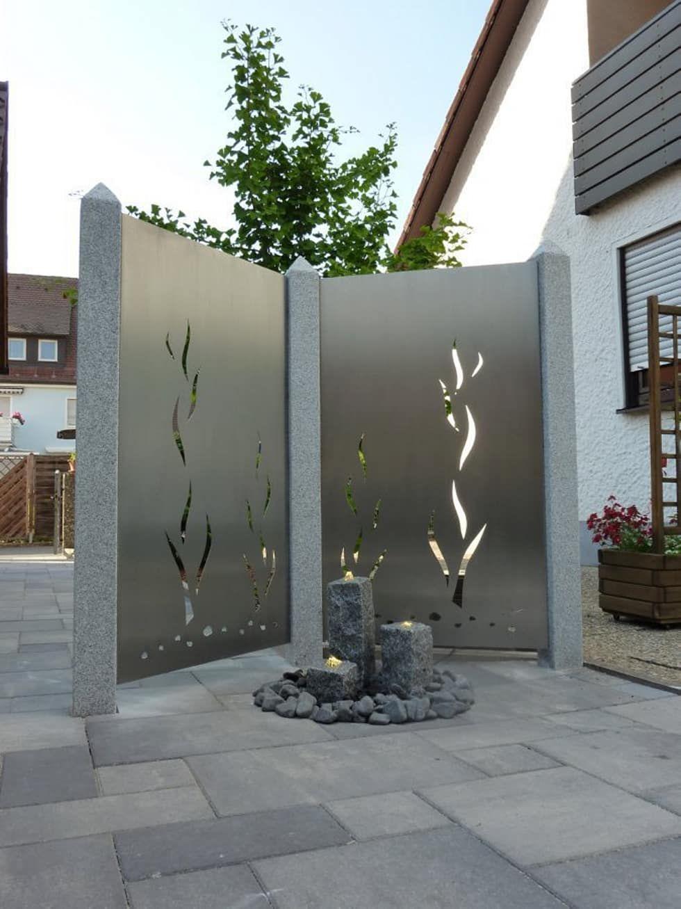 Edelstahl Sichtschutz Garten Von Edelstahl Atelier Crouse