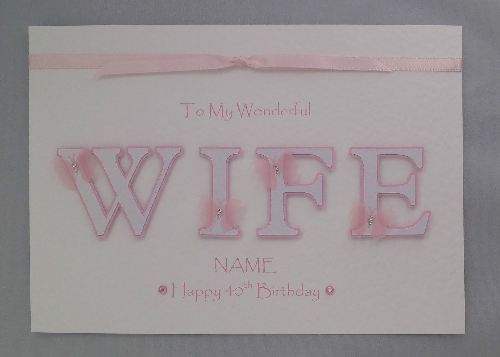 Personalised NEW Female Birthday Scrabble Tile Card 30th,40,50,60th,70th,80,90th