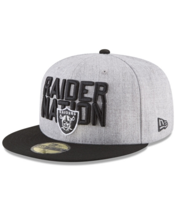 4218fd2e New Era Oakland Raiders Draft 59FIFTY Fitted Cap - Gray 7 1/4 ...