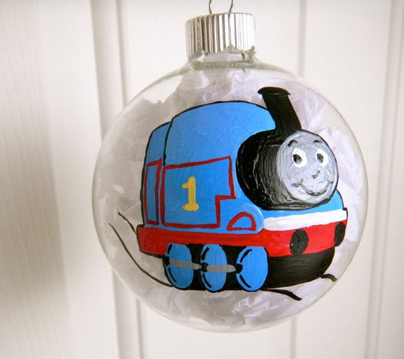 Thomas The Train Inspired Christmas Ornament By Clarityartwork