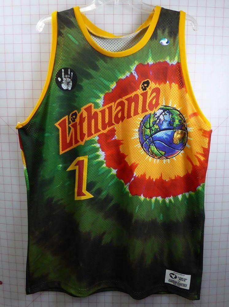 Grateful Dead Basketball Jersey 1992 Lithuania Jerry Garcia Xl