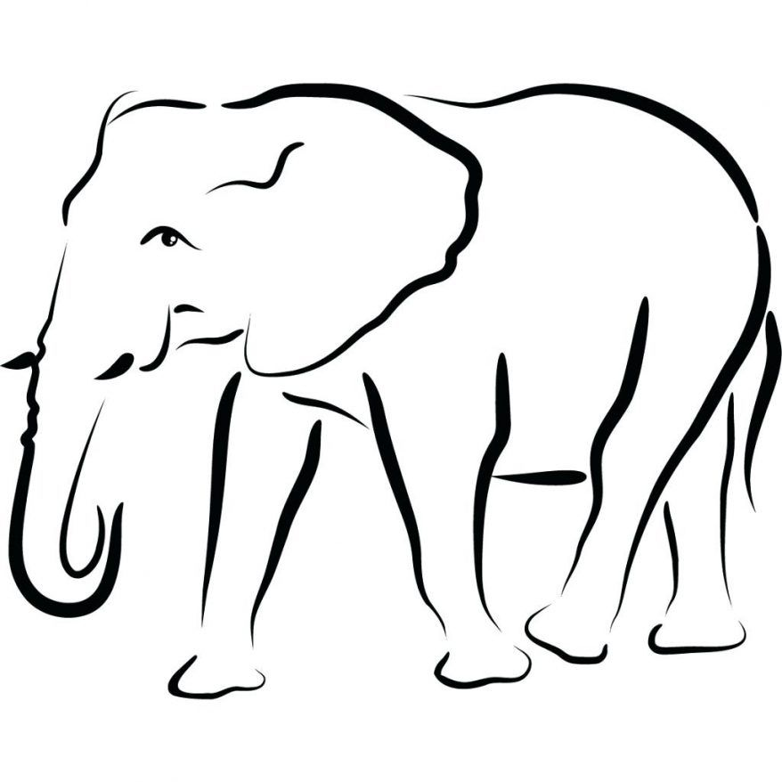 Free Elephant Outline Pictures Clipartix Elephant Outline Elephant Drawing Elephant Applique