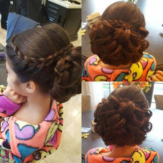 Fryzury Komunijne Dziewczece Fryzury Na Komunie Z Warkoczem Loki Upiecia Z Wiankiem Evening Hairstyles Hair Styles Beautiful Hair