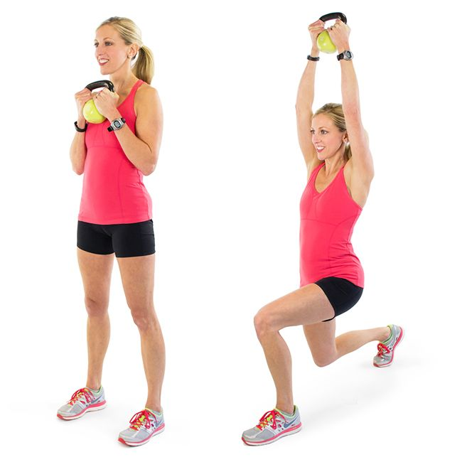 Image result for Kettlebell lunge press: