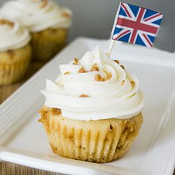 Celebrating The Games With English Toffee Cupcakes With Images