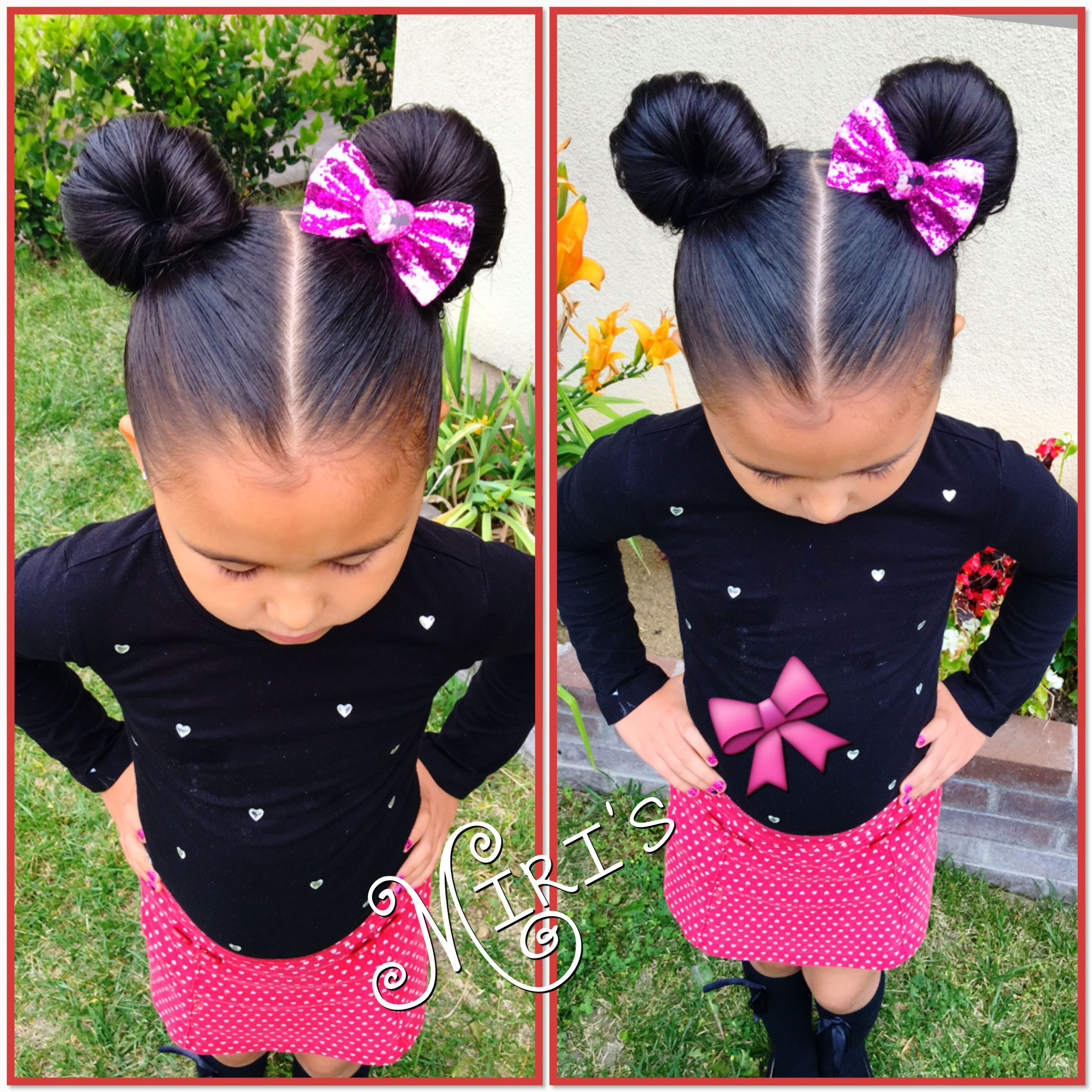 minnie mouse ears hair style for little girls | natural hair style