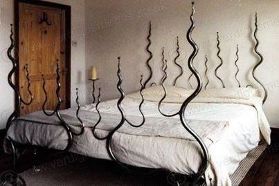 Endless Coils Snake Bed Wrought Iron Beds Gothic Home Decor