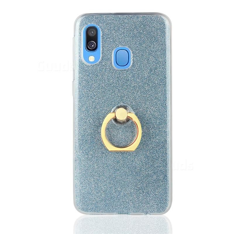 Luxury Soft Tpu Glitter Back Ring Cover With 360 Rotate Finger Holder Buckle For Samsung Galaxy A30 Blue Galaxy A30 Cases Guuds Samsung Galaxy Wallpaper Android Samsung Galaxy Wallpaper Samsung Galaxy