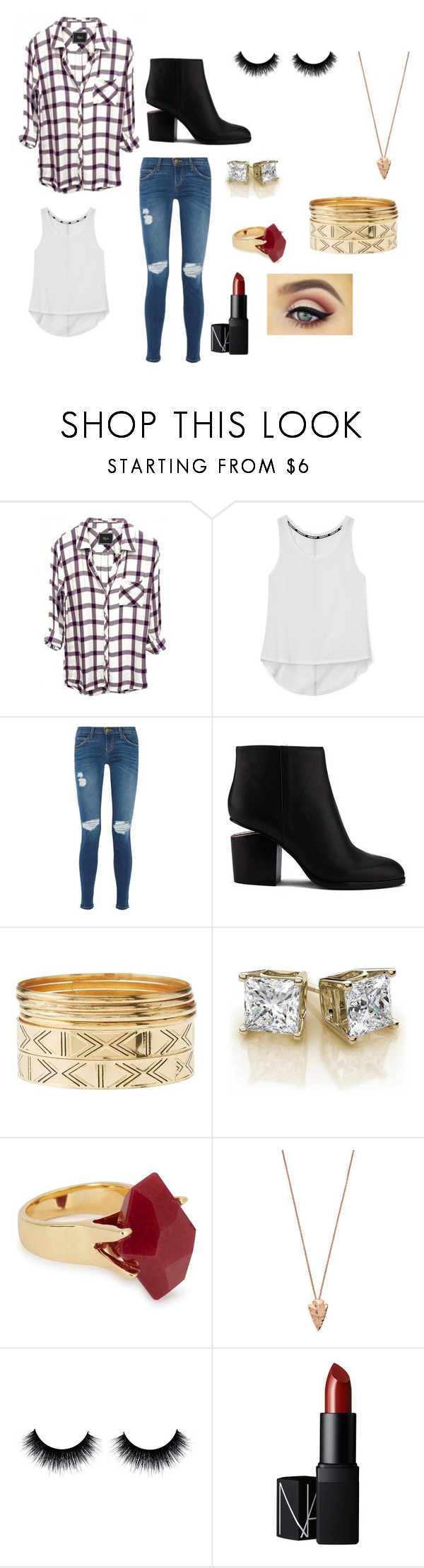 """Phori"" by phoridavies on Polyvore featuring Rebecca Minkoff, Current/Elliott, Alexander Wang, Charlotte Russe, Lola Rose, Pamela Love, NARS Cosmetics, GRANNY, Phori and madgramma"