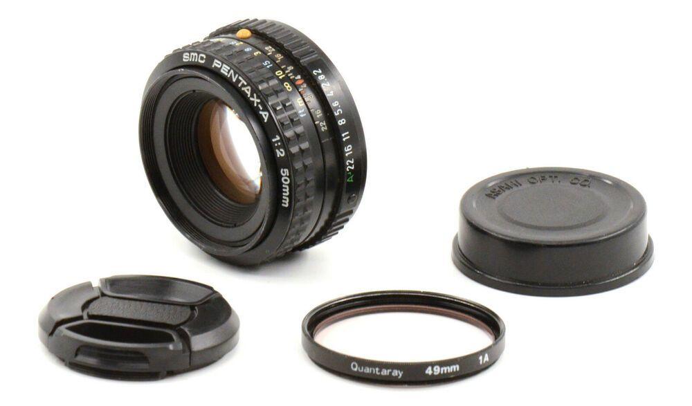 Smc Pentax A 50mm F2 Lens For Pentax K Mount Good Condition Pentax Pentax Lens Conditioner