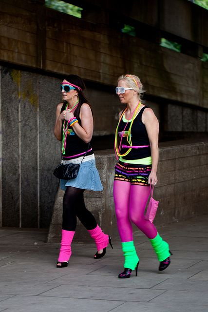 Fluoro 80 S Girls 80s Fashion Party 80s Party Outfits 80s Theme Party Outfits