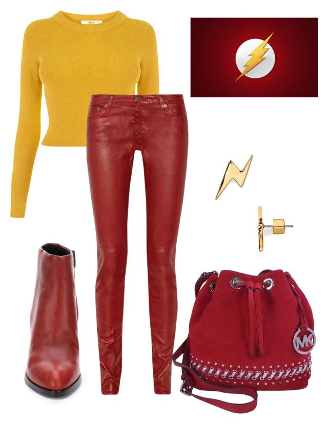"""The Flash !!!"" by najoli ❤ liked on Polyvore featuring Oasis, AG Adriano Goldschmied, Alexander Wang, Michael Kors, Marc by Marc Jacobs, women's clothing, women, female, woman and misses"
