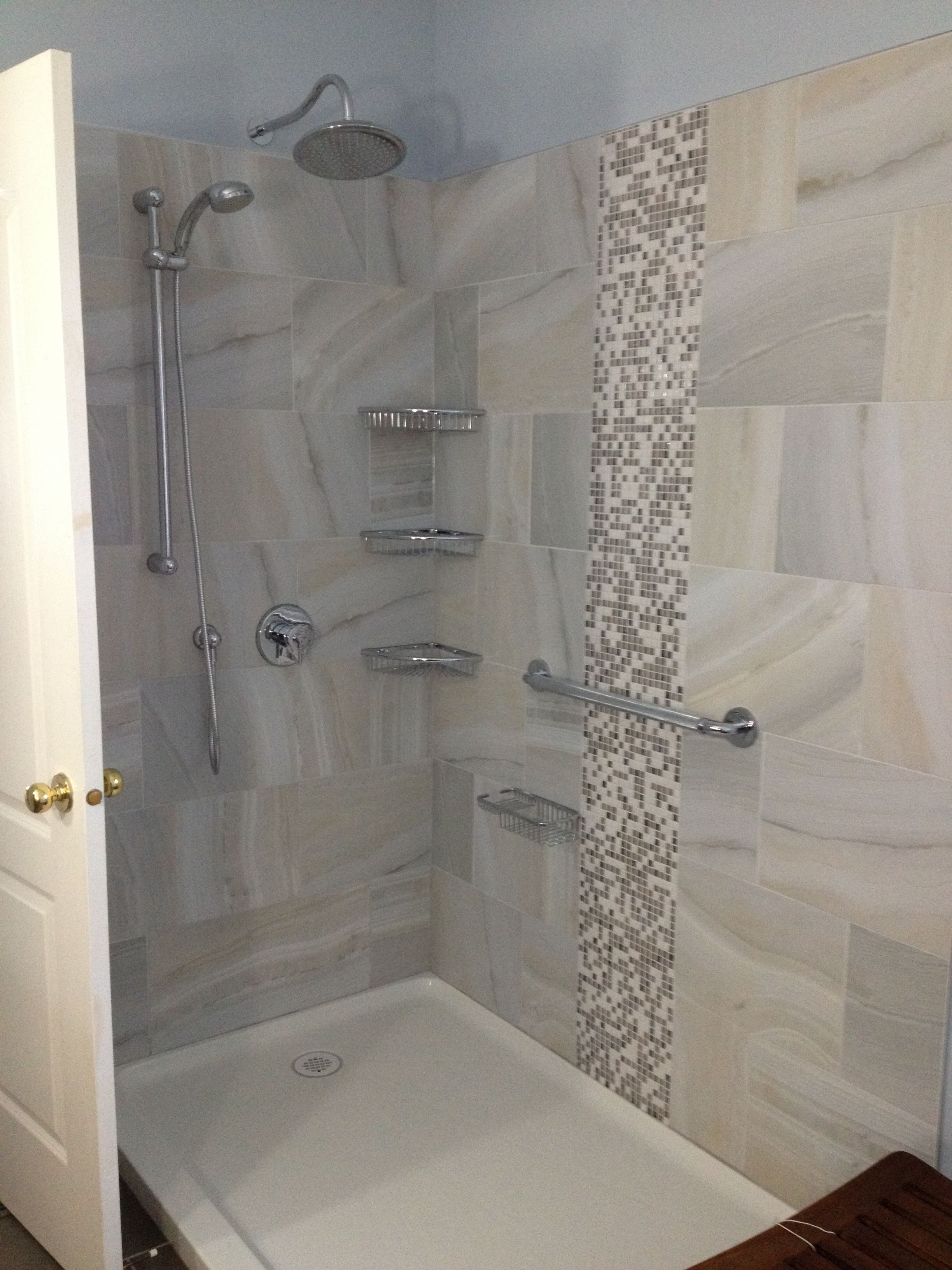 Capolavoro Renovation Inc Acrylic Shower Pan Marble Tiles And