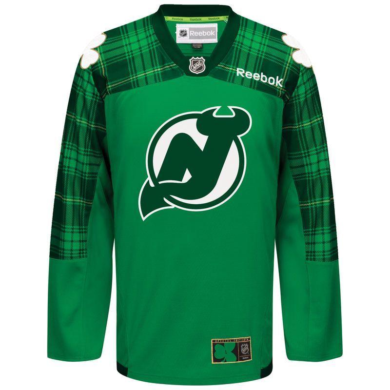 New Jersey Devils Reebok St. Patrick s Day Replica Jersey - Green ... 14290cd35