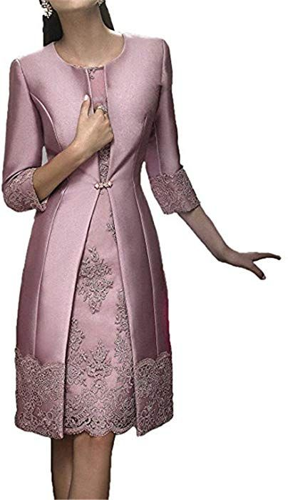 c584ac0a182 JINGDRESS Tea Length Mother of The Bride Dresses with Jackets Two Piece for  Women at Amazon Women s Clothing store