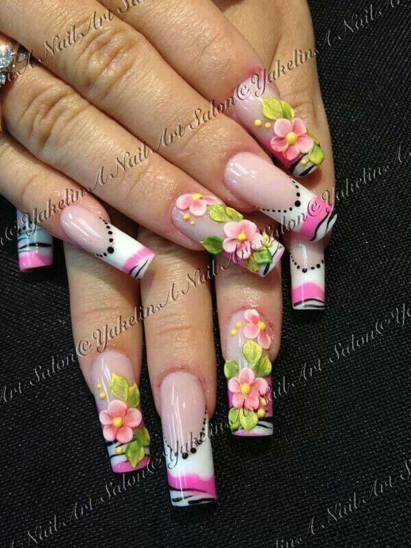 ✴✴✴〰Nail art〰✴✴✴   uñas estilo sinaloa T.M.M :)   Pinterest ...