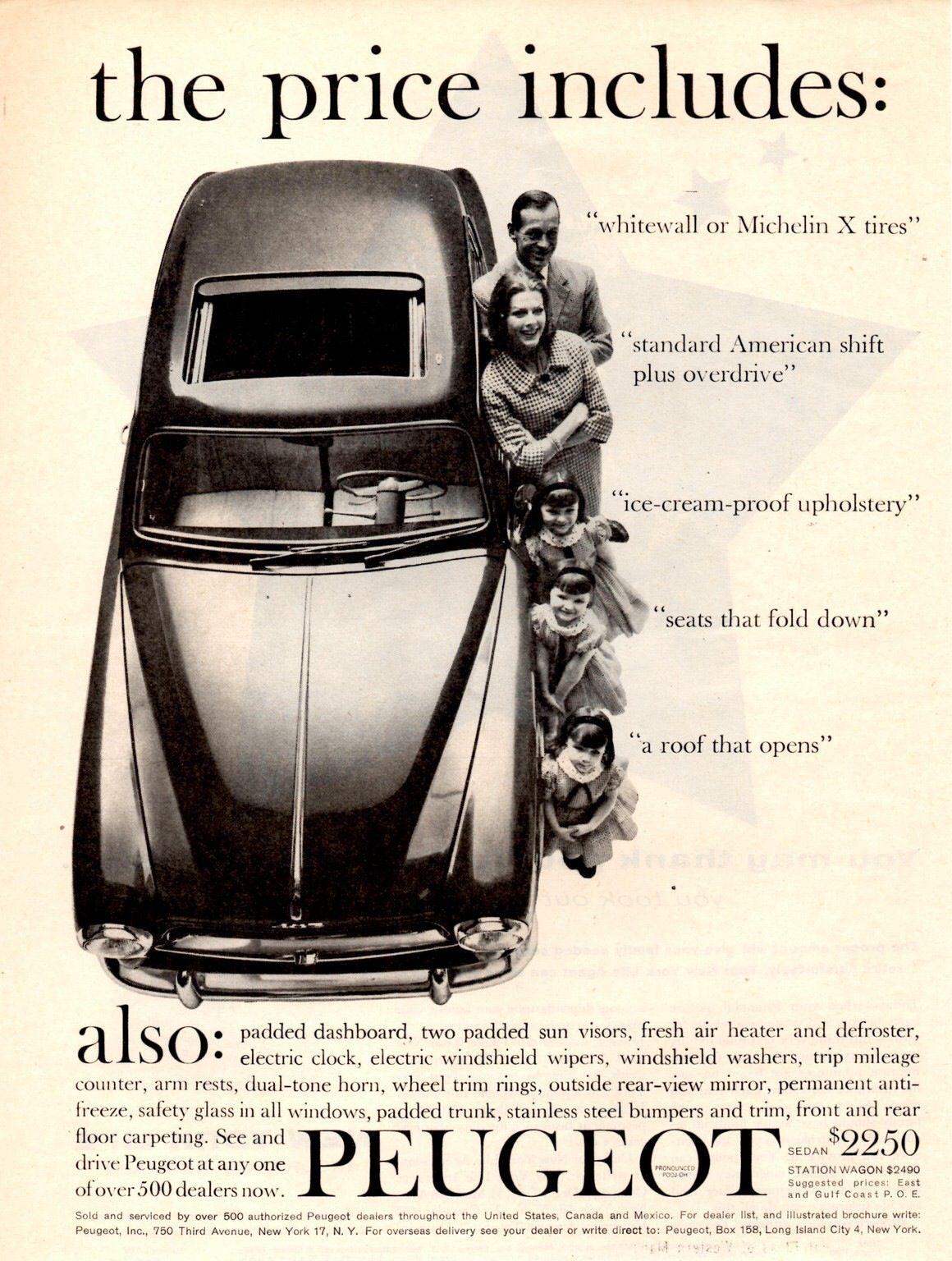 Advertentie | Peugeot 403 reclame | Pinterest