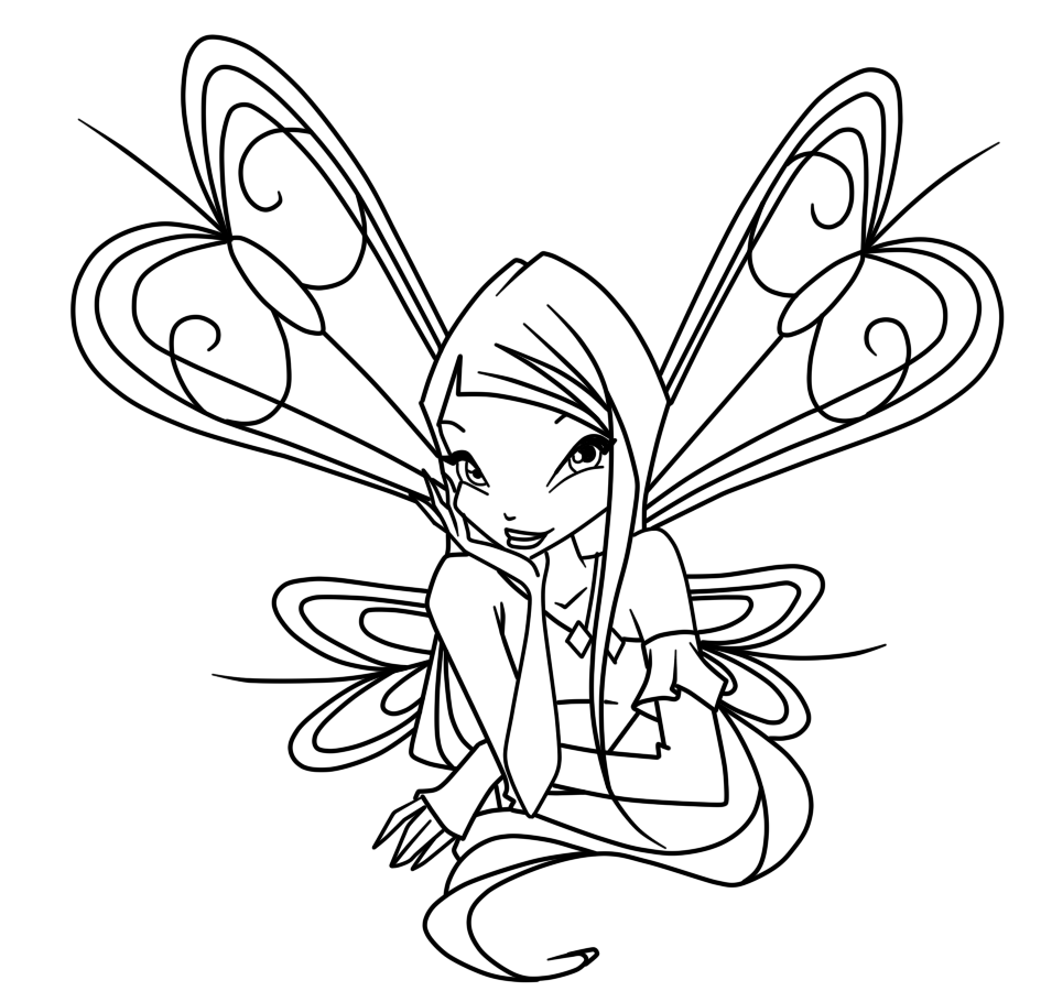 Winx Club Roxy coloring pages | Fairies & Unicorn coloring pages ...