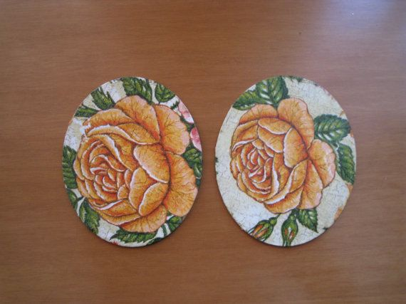 Set of 2 Decoupaged Coasters by ThePurpleDream on Etsy #coasters
