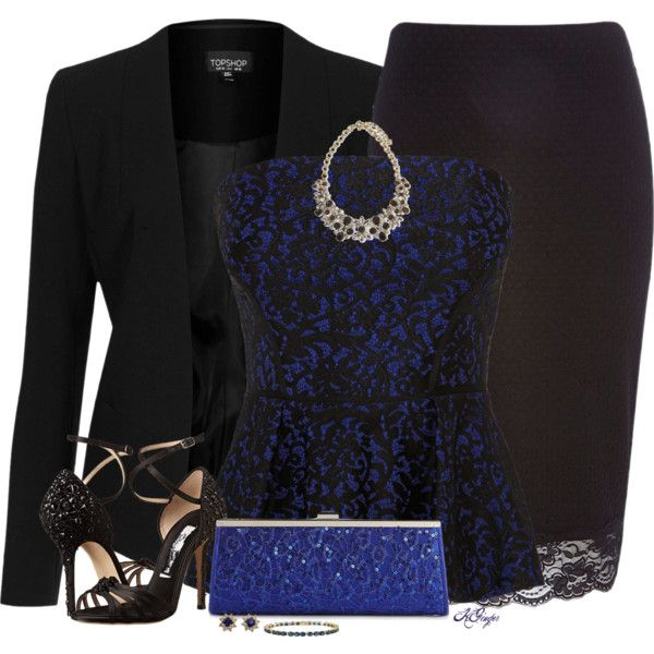 Elegant in a Bustier Top and Blazer Contest by kginger on Polyvore featuring polyvore, fashion, style, Topshop, Coast, River Island, Oscar de la Renta, Lulu Townsend, Tiffany & Co. and Sabine