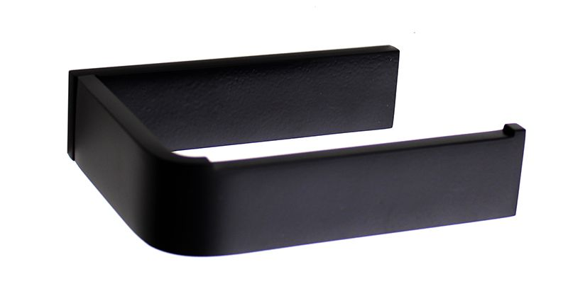 Toilet Accessoires Zwart : Waterevolution deep wc rol houder mat zwart badkamer accessoires