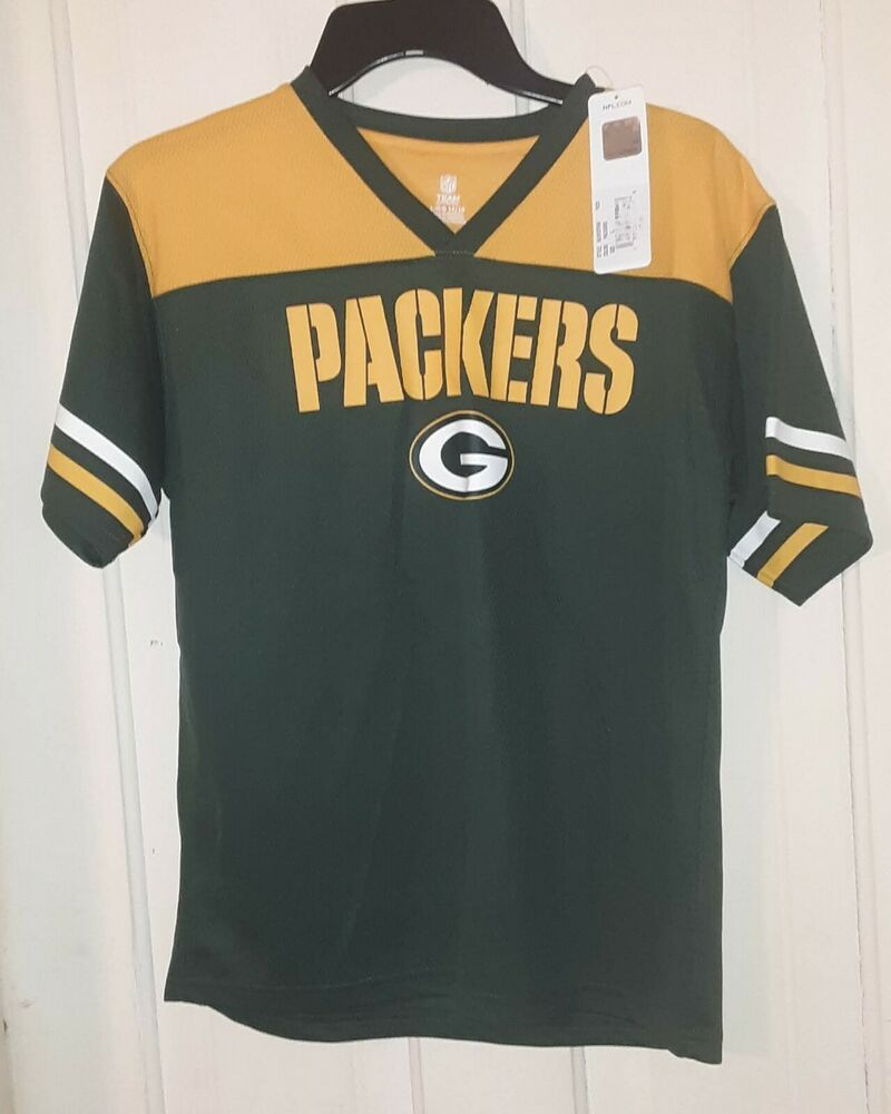 Details About Green Bay Packers Nfl Youth L 14 16 Jersey Material Team Apparel Team Apparel Nfl Packers Green Bay Packers