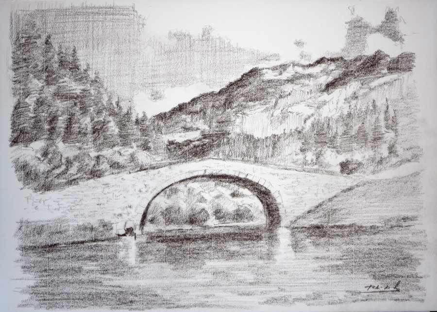 dibujos a lapiz de paisajes 9  paisajes  Pinterest