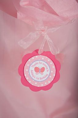 Butterfly Favor Tags Birthday Party