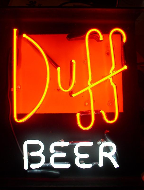 Simpsons Duff Beer Neon sign neons light | eBay 280 € | neon