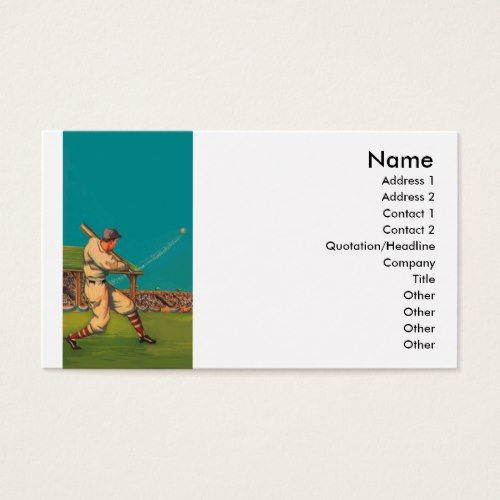 Vintage baseball business card business cards pinterest vintage baseball business card colourmoves