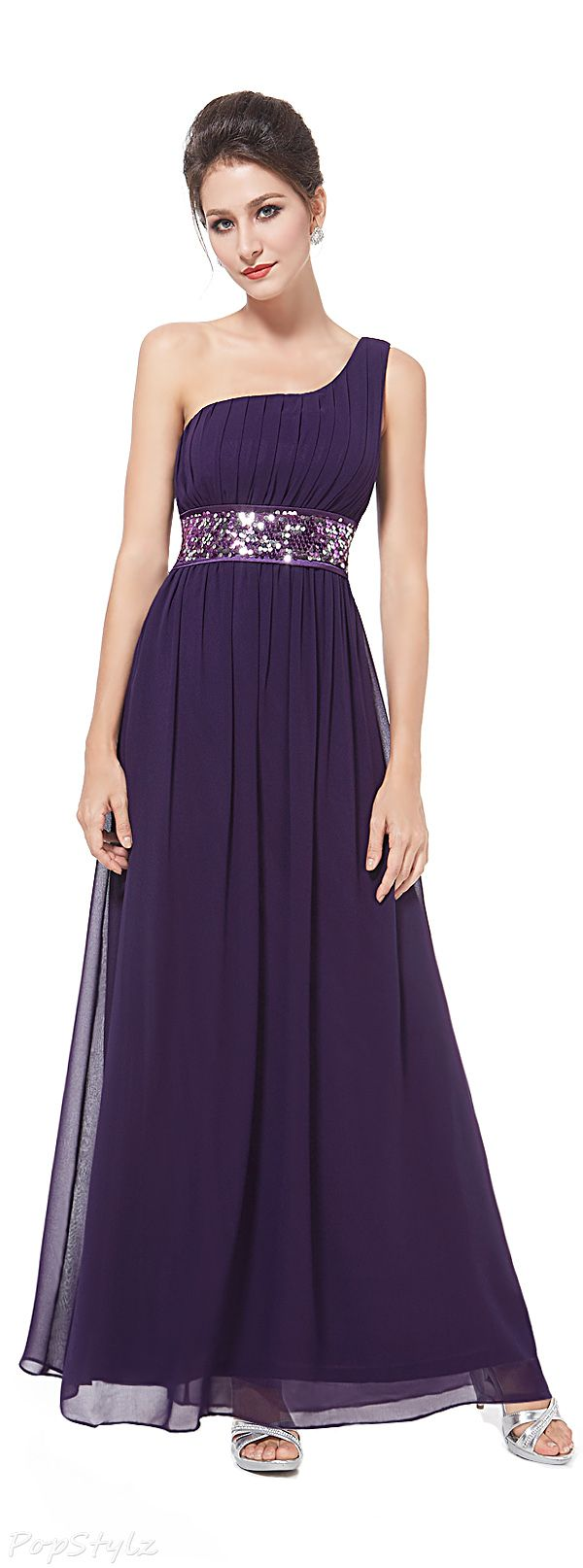 Pretty Sequins Accents Gown | Things to Wear | Pinterest
